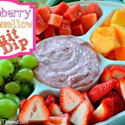 Raspberry Marshmallow Fruit Dip