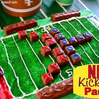 NFL Kickoff Party and Football Field Cake