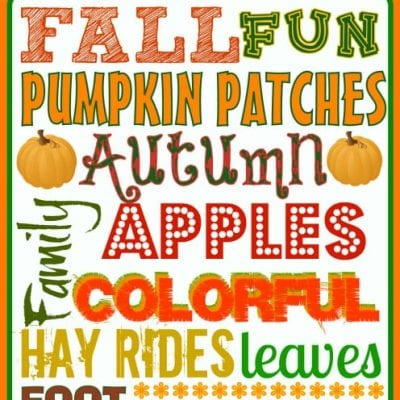 Fall Subway Art {FREE Printable}