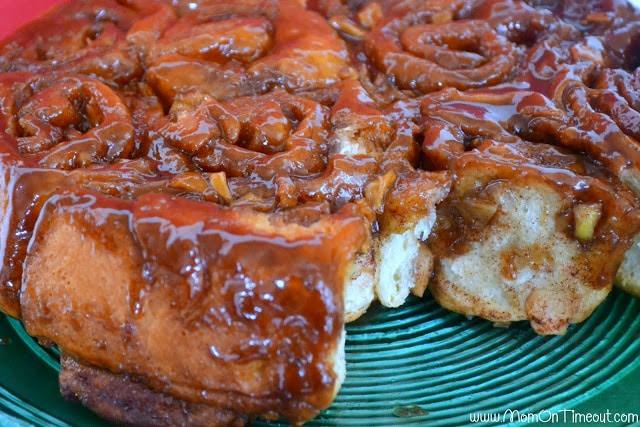 Caramel Apple Sticky Buns | MomOnTimeout.com