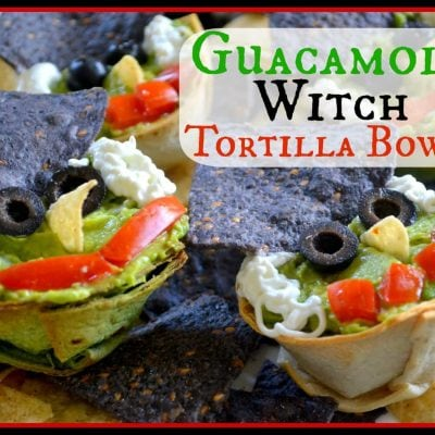Guacamole Witch Tortilla Bowls