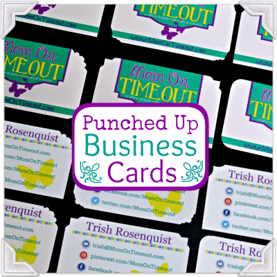 Punched Up Business Cards