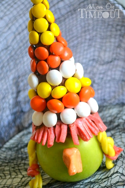 Bewitching Apples - A fun Halloween treat from MomOnTimeout.com