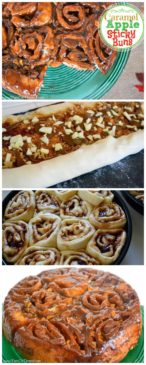 Caramel Apple Sticky Buns | MomOnTimeout.com
