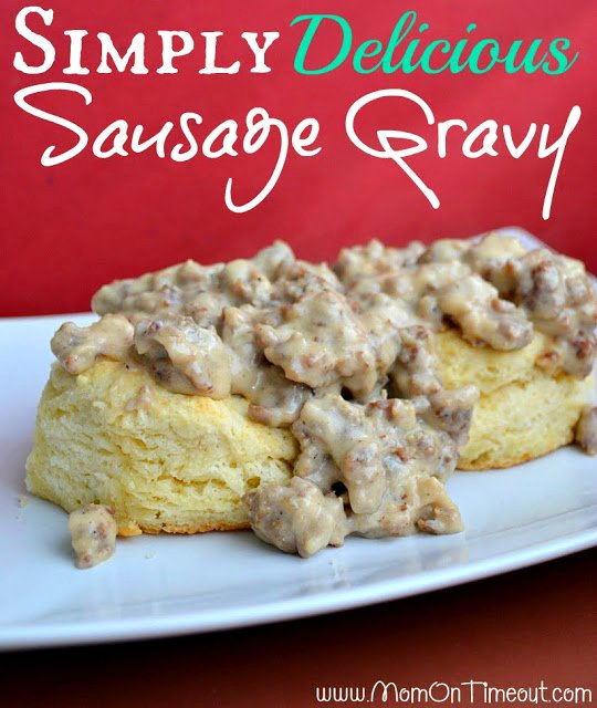 Simply Delicious Sausage Gravy from MomOnTimeout.com   This is my Nana's recipe for sausage gravy - it's simple to prepare and delicious!