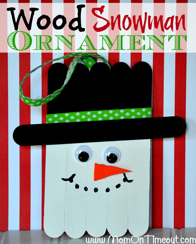 Wood Snowman Ornaments
