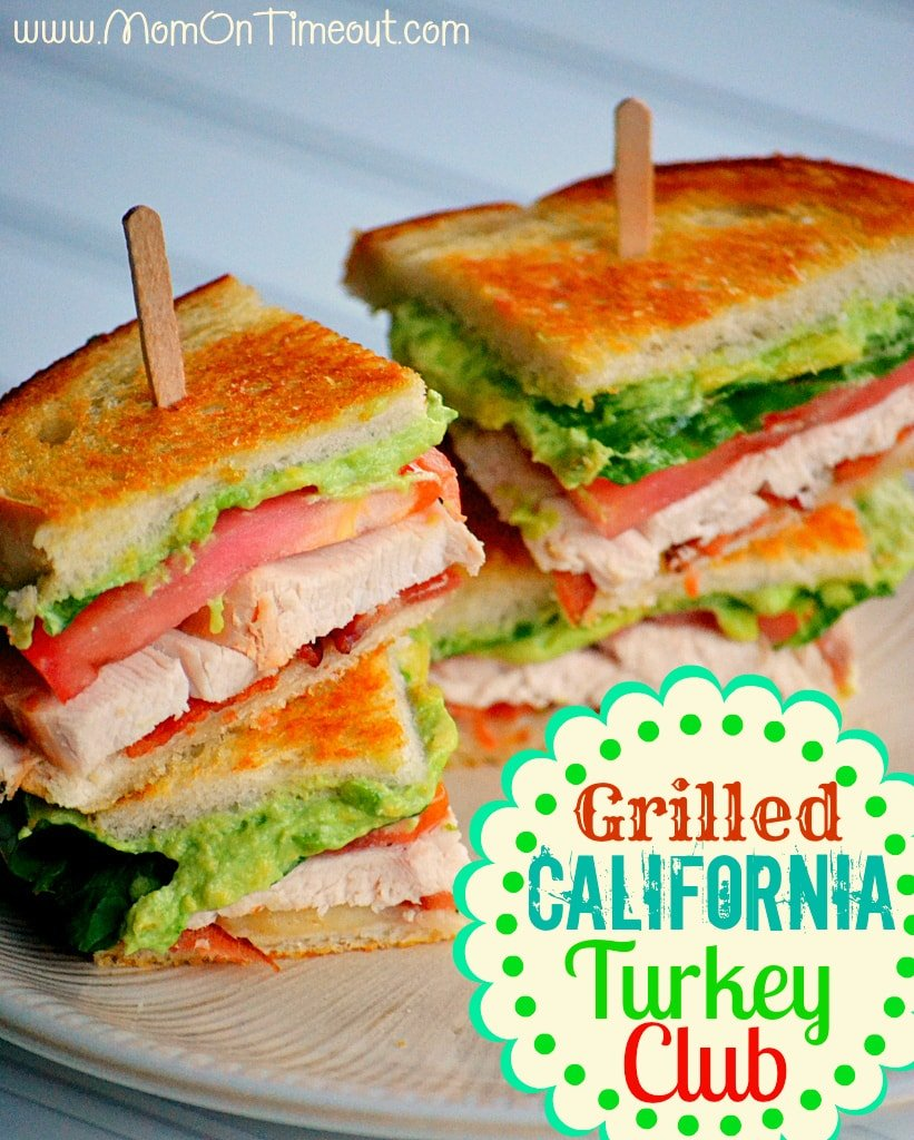 Meet your new favorite sandwich - the Grilled California Turkey Club! | MomOnTimeout.com