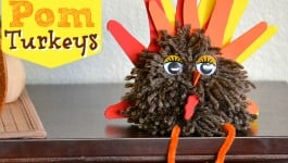 Pom Pom Turkey Thanksgiving Craft