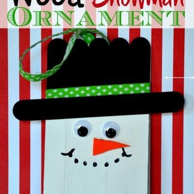 Wood Snowman Ornaments Christmas Craft