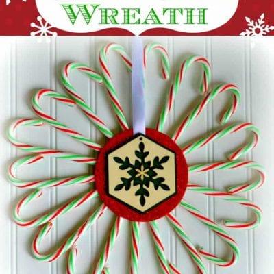 Candy Cane CD Wreath