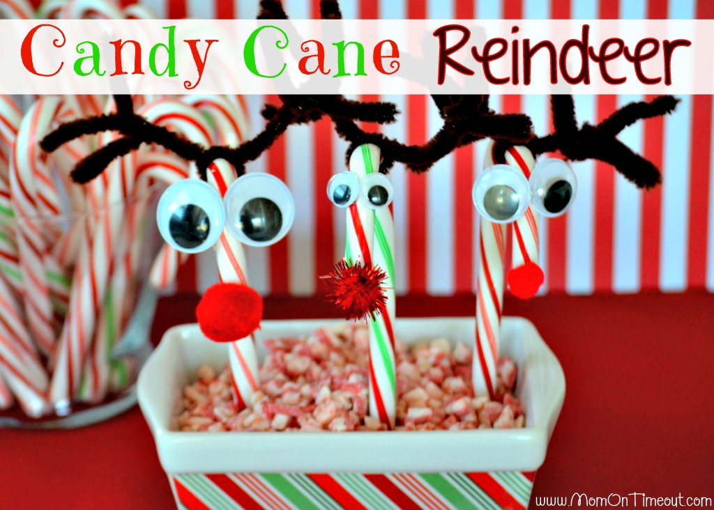 Candy Cane Reindeer Craft Tutorial Mom On Timeout