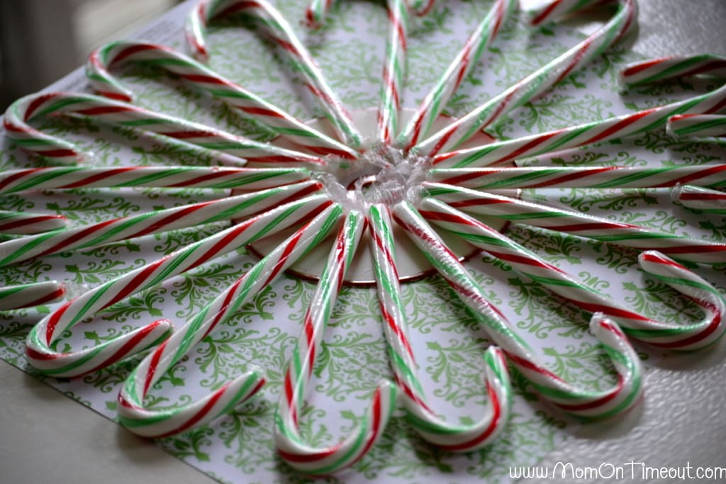 Candy Cane CD Wreath - Mom On Timeout