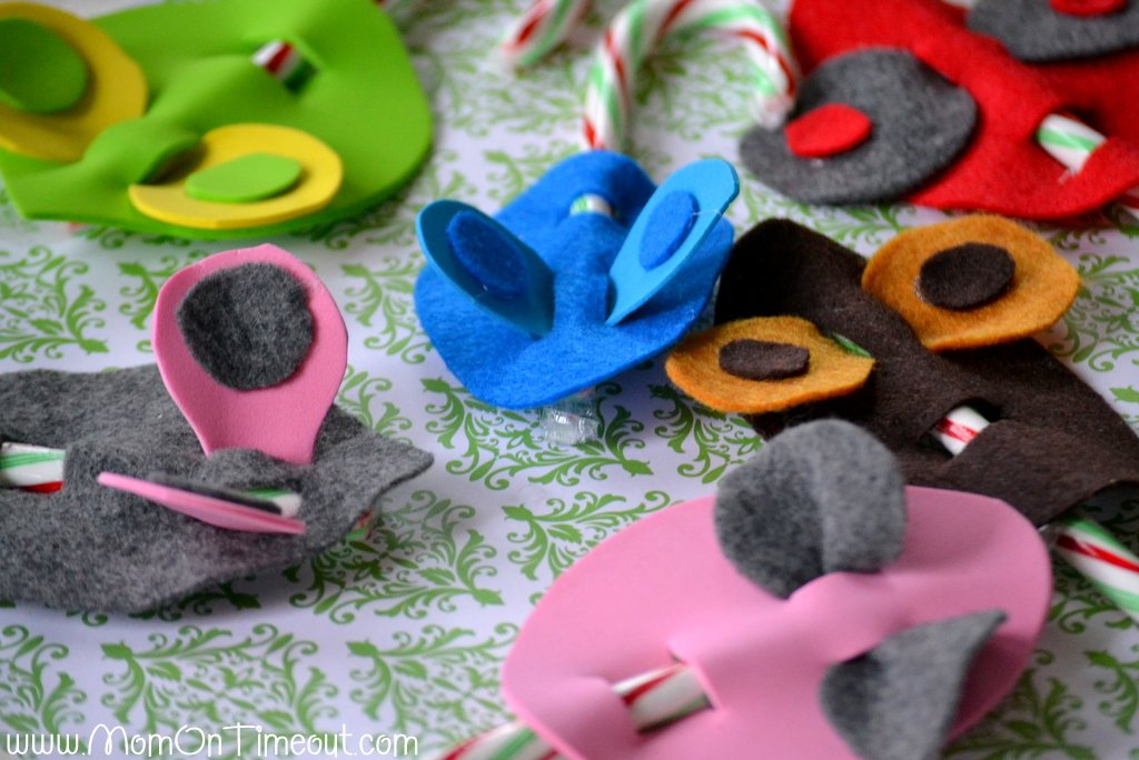 Candy Cane Mice Craft Project