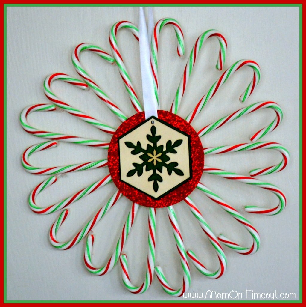 Candy Cane Wreath Complete