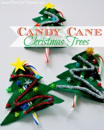 Candy Cane Christmas Trees Craft for Kids