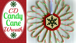Candy Cane Christmas Wreath Craft