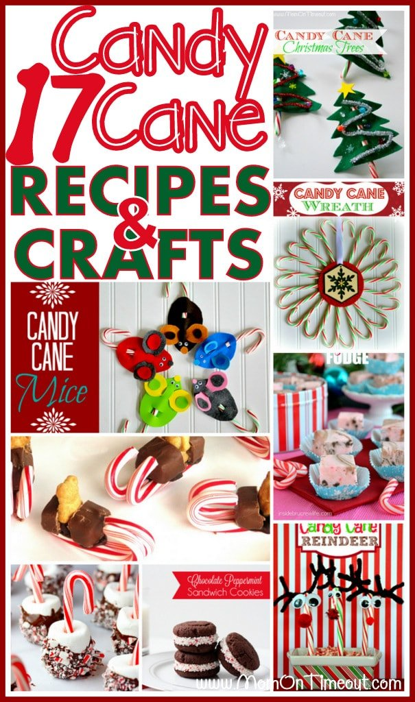 17 Candy Cane Crafts and Recipes for the best holiday season EVER! | MomOnTimeout.com | #Christmas #crafts #recipes