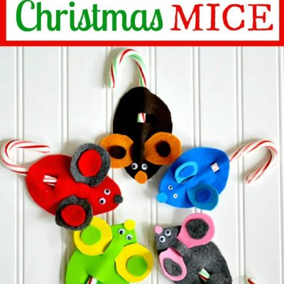 Candy Cane Mice Christmas Crafts