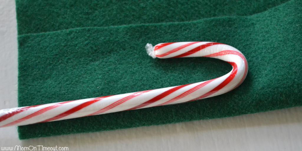 Candy Cane Christmas Craft Step 1