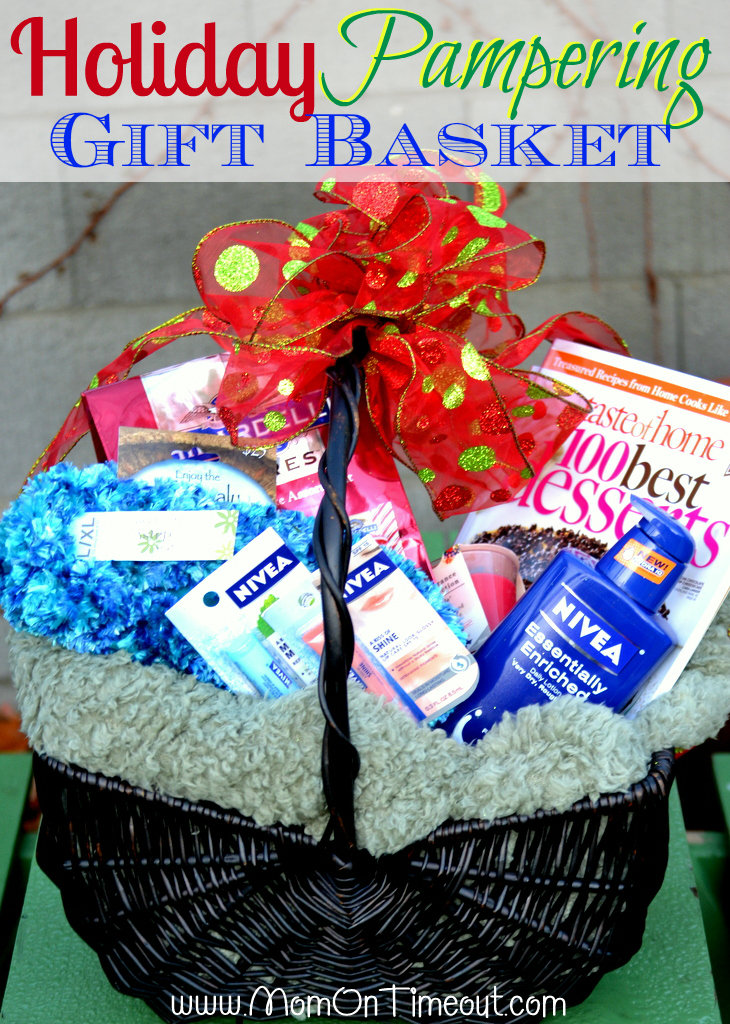 Holiday pampering gift basket idea mom on timeout for Homemade christmas gift baskets for couples