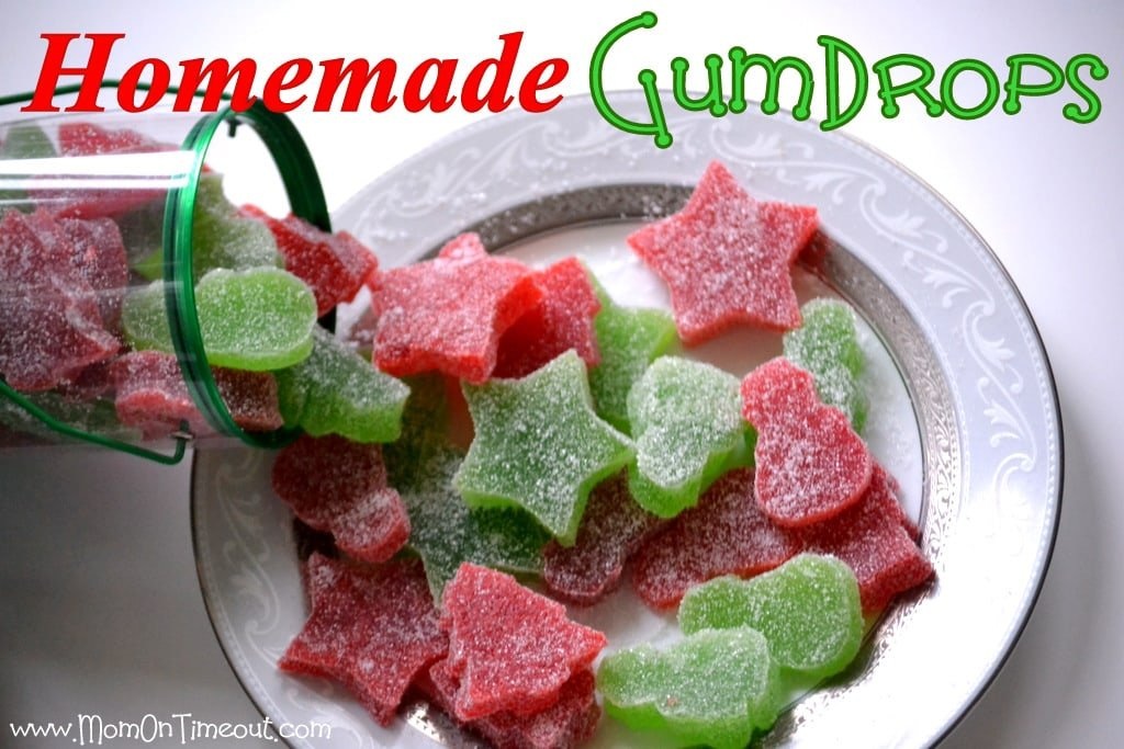 Homemade Gumdrops | MomOnTimeout.com #recipes #Christmas