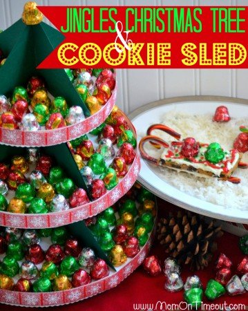 Nestle Jingles Tree and Candy Cane Cookie Sled | MomOnTimeout.com #Christmas #craft #gift #recipe