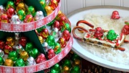 Jingles Christmas Tree Hostess Gift and Cookie Sleds