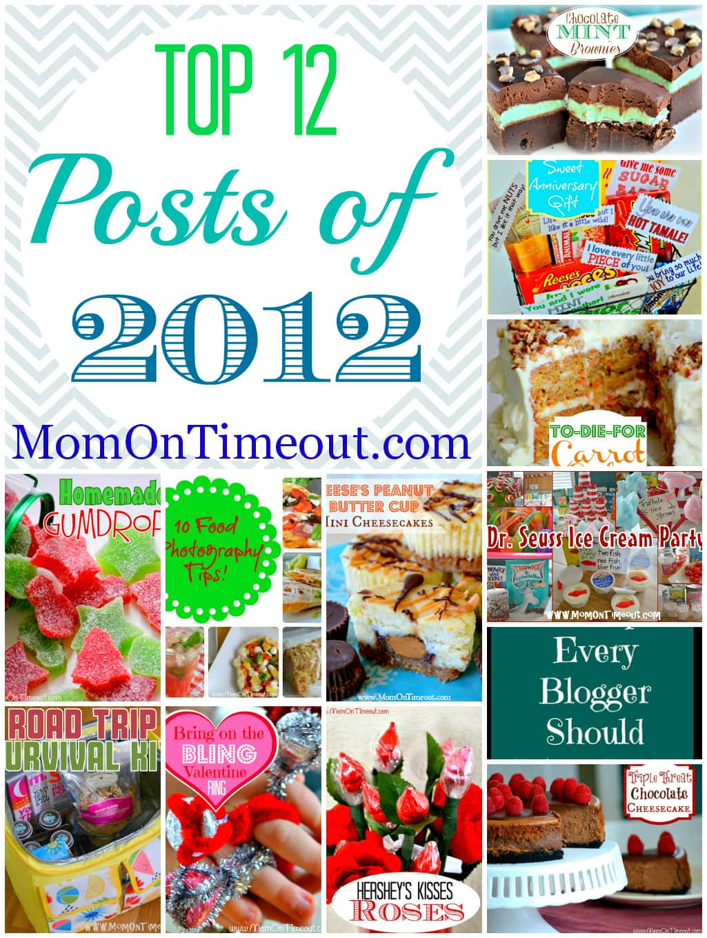 Top 12 Posts from 2012 MomOnTimeout.com | The top recipes and crafts from 2012! #recipes #crafts