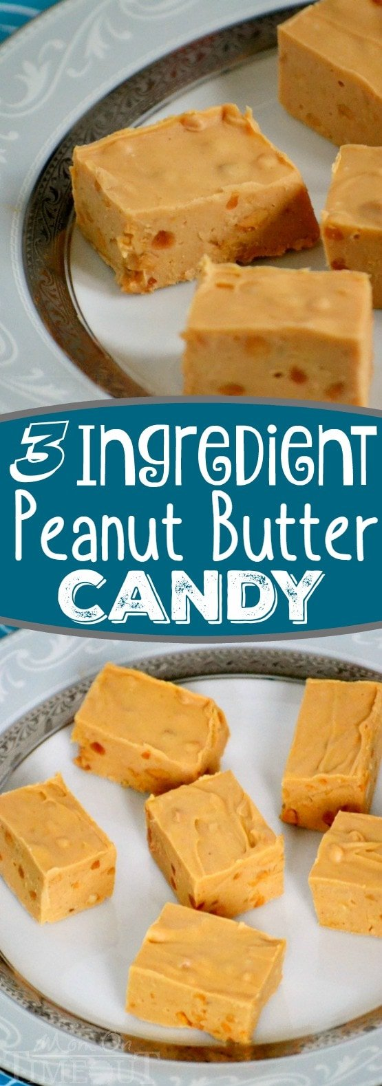 A delicious 3-ingredient Peanut Butter Candy recipe peanut butter lovers are sure to enjoy! Recipes just don't get any easier than this one!