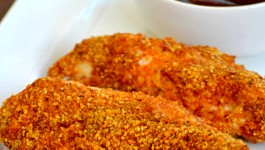 Almond Crusted Chicken Strips Recipe