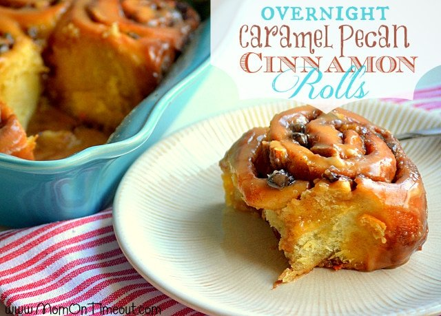Overnight Caramel Pecan Cinnamon Rolls | MomOnTimeout.com - Make the ...