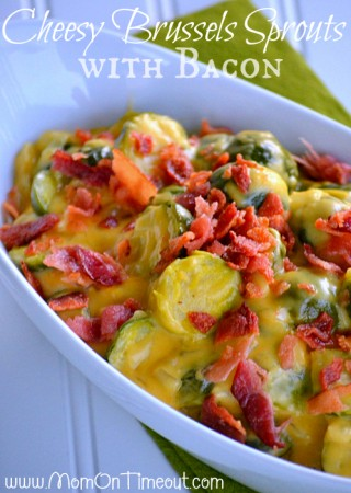 Cheesy Brussels Sprouts with Bacon Recipe
