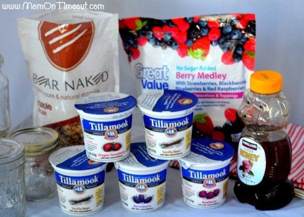Ingredients for Honey Vanilla Parfaits