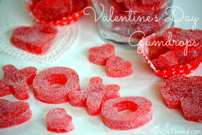 Valentine's Day Homemade Gumdrops   MomOnTimeout.com - Easy to make and yummy to eat! #valentinesday #recipe