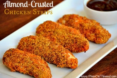 Heart Healthy Almond Crusted Chicken Strips