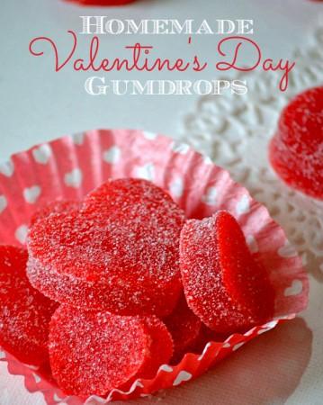 Homemade Valentine's Day Gumdrops