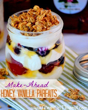 Make Ahead Honey Berry Vanilla Parfaits