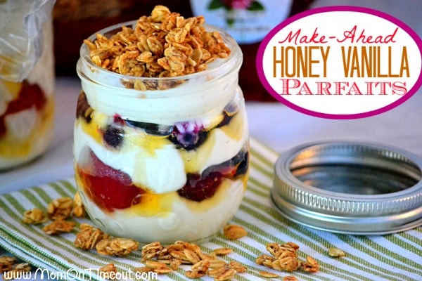 Make-Ahead Honey Vanilla Parfaits