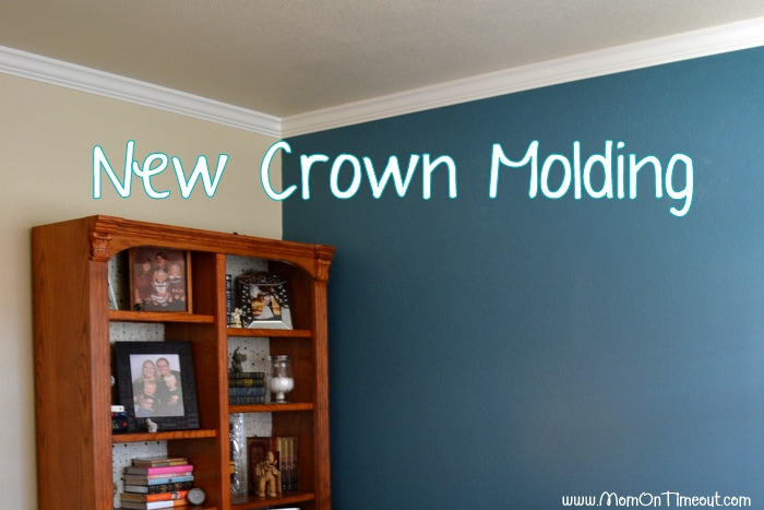 New Crown Molding #MomCave #CBias #SocialFabric