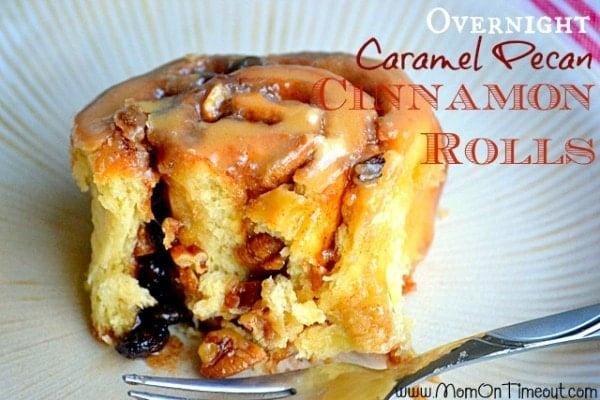 Overnight Caramel Pecan Cinnamon Rolls 1