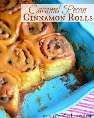 Overnight Caramel Pecan Cinnamon Rolls recipe