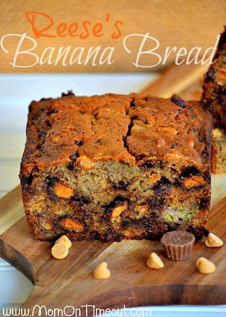 Reese's Banana Bread Recipe. Featured over at the36thavenue.com
