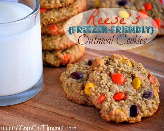 Reese's Freezer Friendly Oatmeal Cookies
