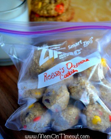 Reese's Freezer Friendly Oatmeal Cookies Ready For Freezer