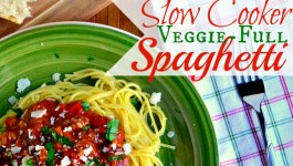 Slow Cooker Veggie-Full Spaghetti