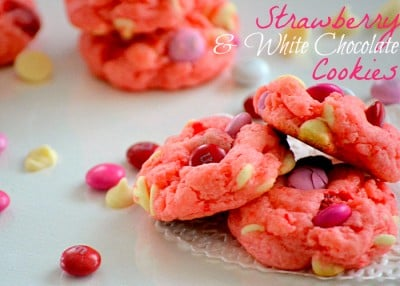 Strawberry Cake Mix Cookies Recipe