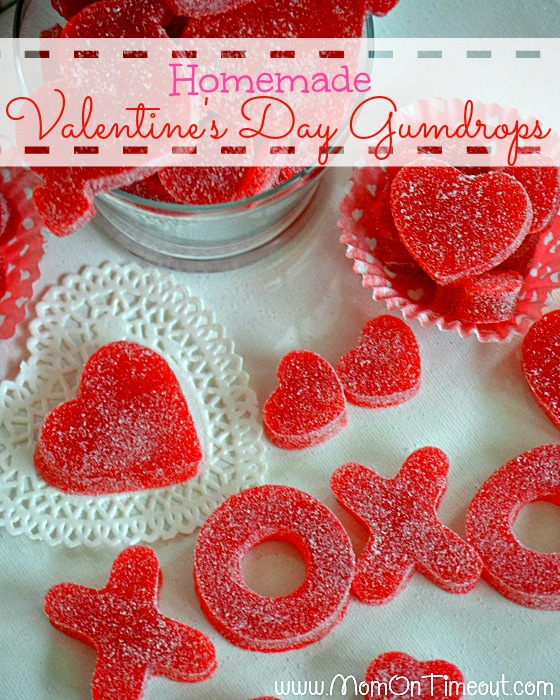 Valentine's Day Homemade Gumdrops | MomOnTimeout.com - Easy to make and yummy to eat! #valentinesday #recipe