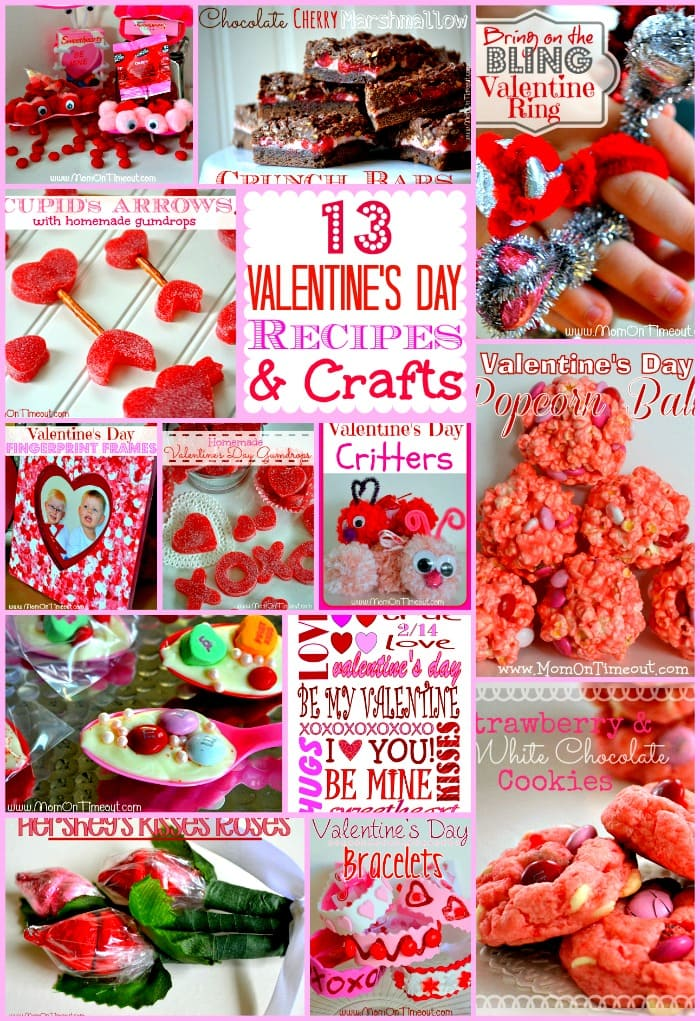 13 Valentine's Day Recipes and Crafts | MomOnTimeout.com