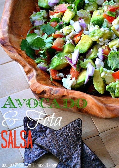 Avocado and Feta Salsa | MomOnTimeout.com