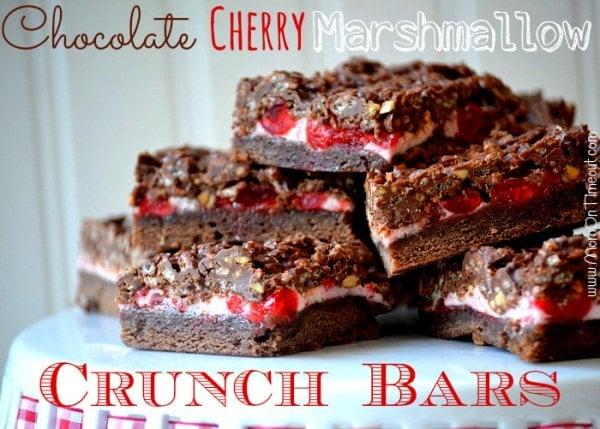 Chocolate Cherry Marshmallow Crunch Bars Recipe